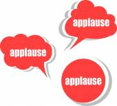 Modern afiş tasarım şablonu sözüne alkış. Etiketler, etiket, Etiketler, bulutlar kümesi — Stok fotoğraf