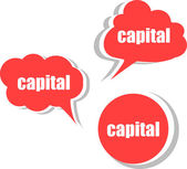 Capital. Set of stickers, labels, tags. Template for infographics — Stock Photo