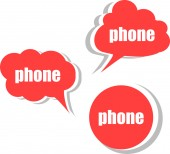 Phone. Set of stickers, labels, tags. Template for infographics — Stock Photo