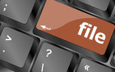 File button on computer pc keyboard key — Stock Photo