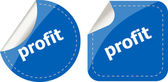 Stickers label set business tag with profit word — Stock Photo
