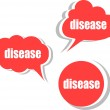 Disease word on modern banner design template. set of stickers, labels, tags, clouds — Stock Photo #56603731