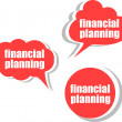Financial planning. Set of stickers, labels, tags. Business banners, Template for infographics — Stock Photo #56604625