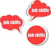 Job skills. Set of stickers, labels, tags. Template for infographics — Stock Photo