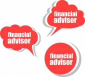 Financial advisor. Set of stickers, labels, tags. Template for infographics — Stock Photo