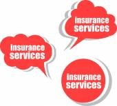 Insurance services, Set of stickers, labels, tags. Template for infographics — Stock Photo