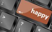 快乐的称呼上计算机 pc 键盘键 — 图库照片