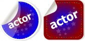 Actor stickers set, icon button isolated on white — Stock Photo