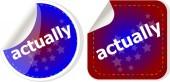 Actually stickers set, icon button isolated on white — Stock Photo