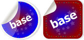 Base word on stickers button set, business label — Stock Photo