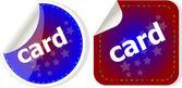 Card word stickers set, web icon button — Stock Photo