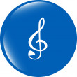 Music round glossy web icon on white background — Stock Photo #57122865
