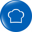 Chef hat sign icon. Cooking symbol. Cooks hat — Stock Photo #57125123