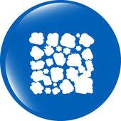 Símbolo abstracto en el icono web botón aislado en blanco — Foto de Stock