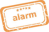 Grunge rubber stamp with word alarm inside — Stock Photo