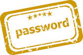Password Rubber Stamp over a white background — Stock Photo