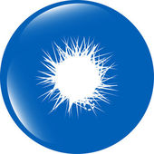 Sun Icon on Round Black Button Collection Original isolated on white background — Stock Photo