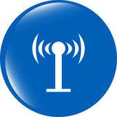 Wifi symbol icon (button) isolated on white background — Stock Photo