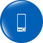 Multimedia smartphone icon, button, graphic design element — Stock Photo