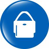 Shopping bag icon web button isolated on white background — Stock Photo