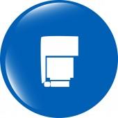 Photo flash web icon, button isolated on white — Stock Photo