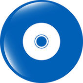 CD or DVD sign icon. Compact disc symbol. Modern UI website button — Stock Photo