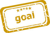 Goal Rubber Stamp over a white background — Stock Photo