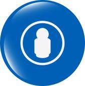 People silhouette web icon app button isolated on white background — Stock fotografie