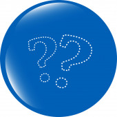Stylish web button with question mark isolated on white background — Stock Photo