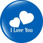 Web button with heart sign. Round shapes icon — Stock Photo