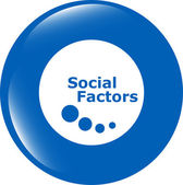 Social factors web button, icon isolated on white — Stock Photo
