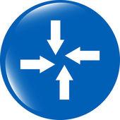 Arrow set on web icon (button) isolated on white — Stock Photo