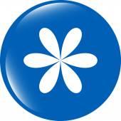 Design flower logo element. web icon isolated on white — Stock Photo