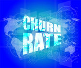 Business concept: words churn rate on digital screen — Stock Photo