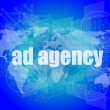 Pixeled word Ad agency on digital screen 3d render — Stock Photo #57402653