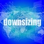concepto de negocio: palabras reducción sobre fondo digital — Foto de Stock   #57402933