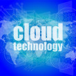 Words cloud technology on digital screen, information technology concept — Stock Photo #57432731