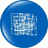 Abstract metro circle glossy web icon on white background — Stock Photo