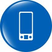 Multimedia smart phone icon, button, graphic design element — Stock Photo