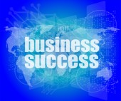 Business concept: words business success on digital screen, 3d — Stock Photo