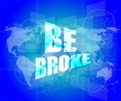Touch screen interface with be broke words — Stock Photo