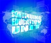 Management concept: continuing education unit words on digital screen — Stock Photo