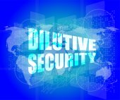 Dilutive security on digital touch screen — Stock Photo