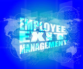 Management concept: employee exit management words on digital screen — Foto Stock