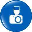 Photo camera web icon, button isolated on white — Stock Photo #57707717