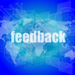 Information technology IT concept: words Feedback on screen — Stockfoto #57709571