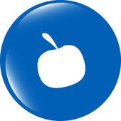 Apple icon on round button collection original button — Stock Photo