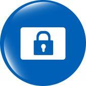 Segno di web icona lucchetto chiuso isolato su bianco — Foto Stock