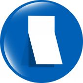 Blank sticker with curled corner on web icon (button) — Stock Photo