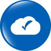 Speech bubbles cloud with check mark web icon — Stock Photo